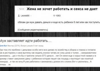 Жена не хочет работать: мужские и женские мнения с форумов (16фото)