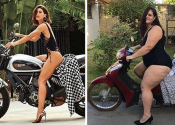 Бразильянка инсценирует гламурные фотографии, доводя их до абсурда (31фото)