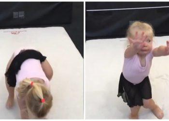 Так воспитывают чемпионов: трогательное видео с урока юных гимнасток (3фото+1видео)