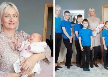 В Британии мать десяти мальчиков впервые родила девочку (5фото)