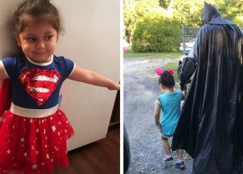 Девочку обижали в садике, но у неё нашёлся защитник. И не кто-то там, а сам Бэтмен! (7фото)