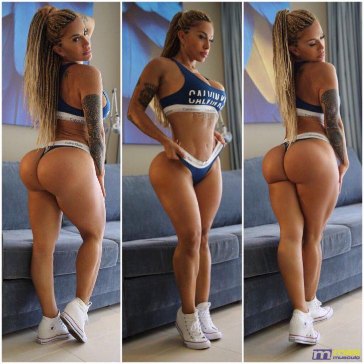 Спортивная девушка с накаченной большой бразильской попой