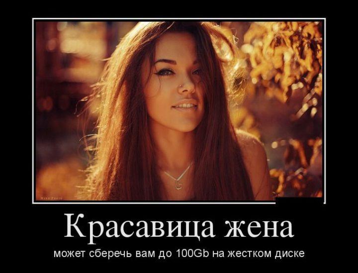 Красавица жена может сберечь вам до 100Gb на жестком диске.