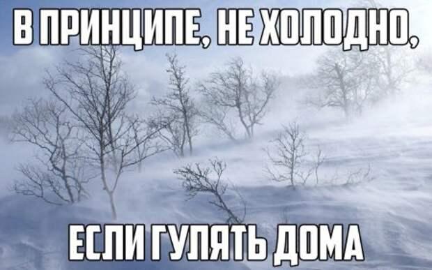 В принципе, не холодно, если гулять дома.