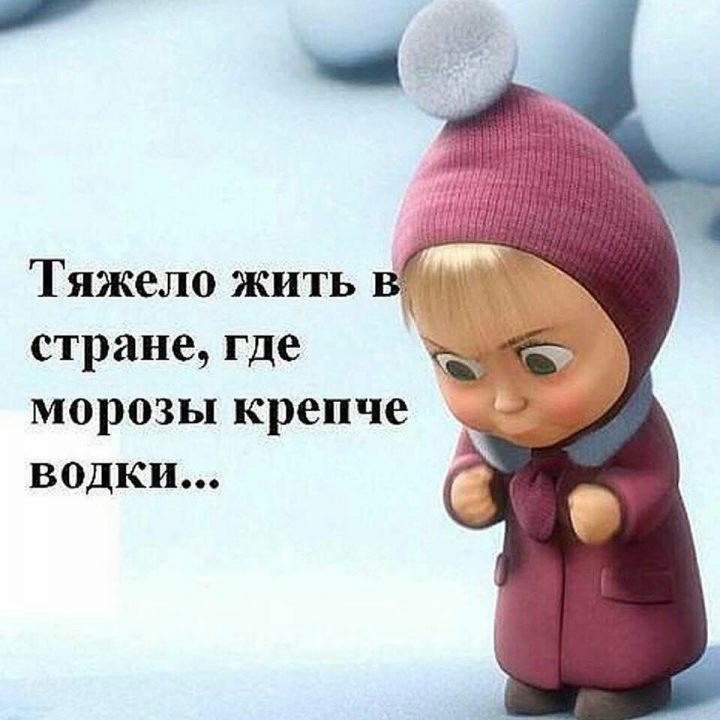 Тяжело жить в стране, где морозы крепче водки...